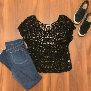 hinge Tops - Hinge Crochet Lace Top